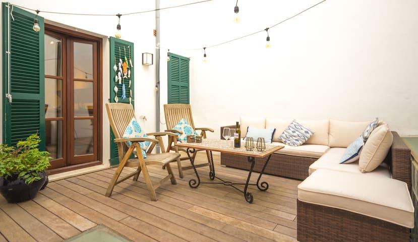 Palma Old Town apartment terrace - Palma - Wohnung