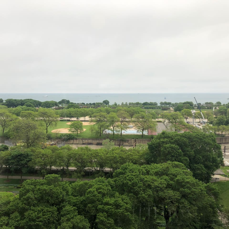 View of Lake Michigan from the living room