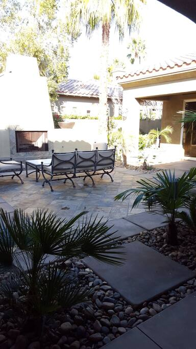 Another view of courtyard.  Great place to hang out for more privacy not exposed to golf course!