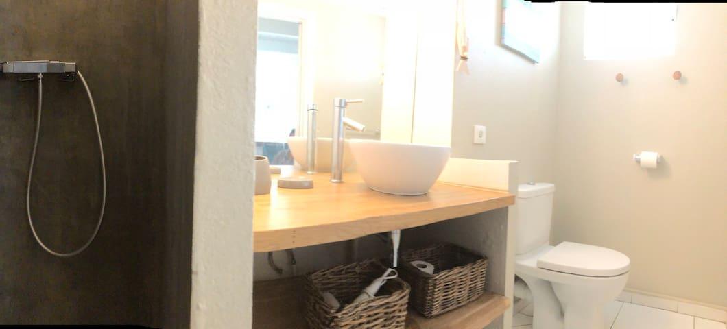 la salle de bain avec ses wc