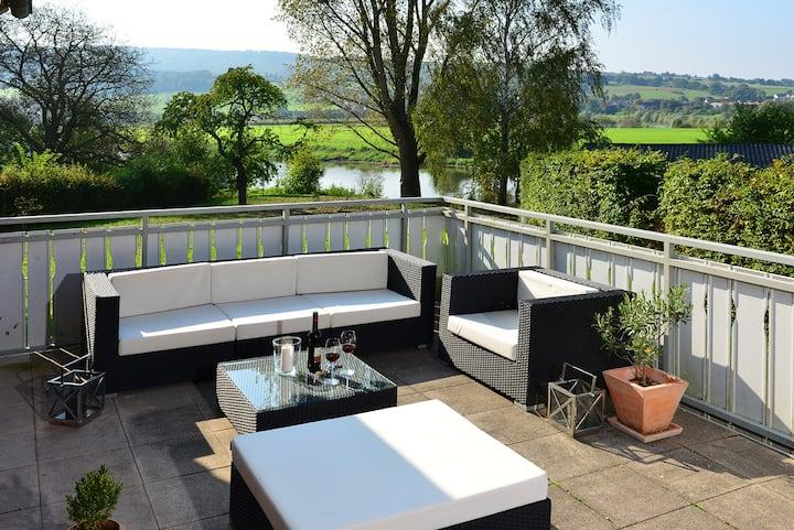 komfortables Apartment direkt an der Weser
