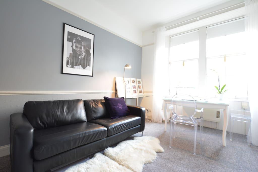 Sofa in master bedroom