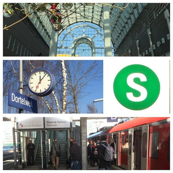 Direkte Verbindung zu Messe, Hauptbahnhof oder City in 25 Minuten