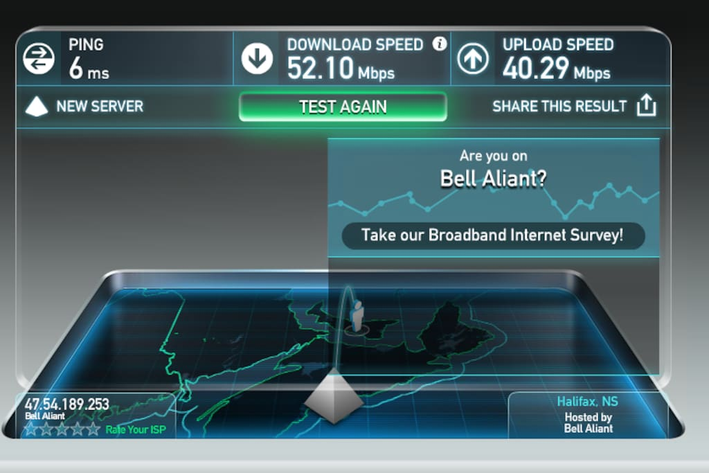 We work from our houses - so we need super fast Wi-Fi. Here's our speed test from August 2017
