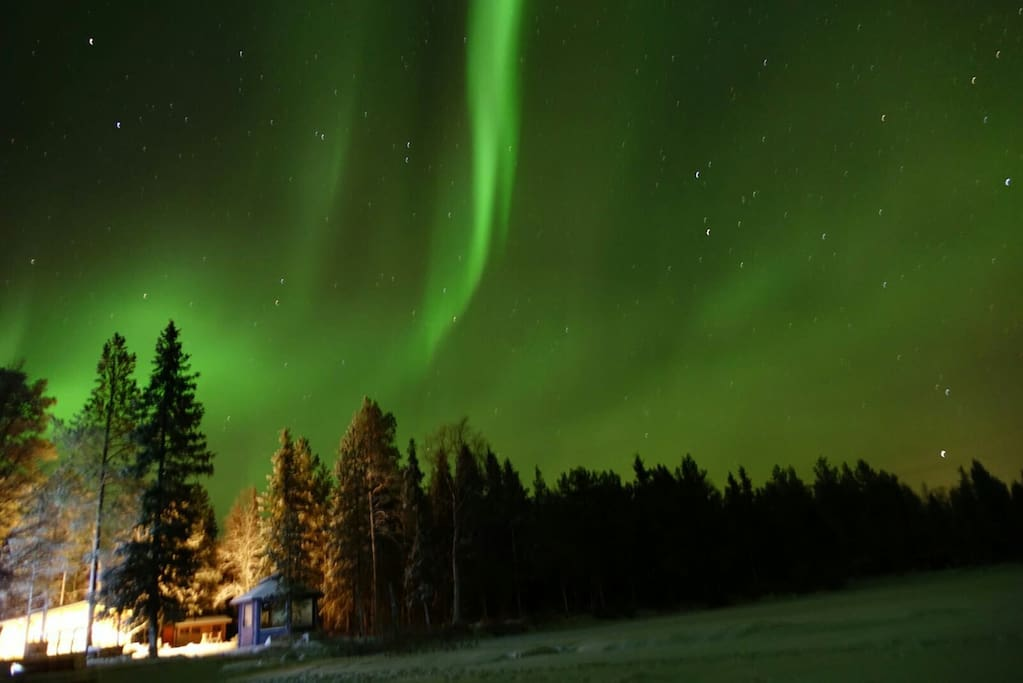 The northern lights from the ice