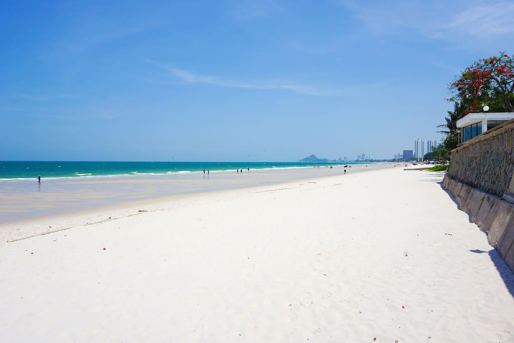 white sandy beach stretch far and wide