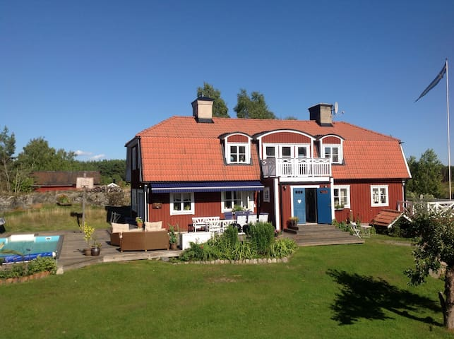 Big house with pool close to Stockholm