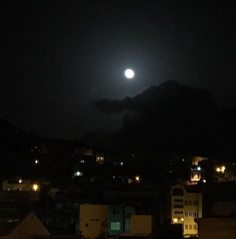Full moon from the roof terrace
