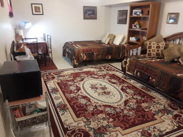 Comfy Lg 1 bdrm or 2 room suite opt great location