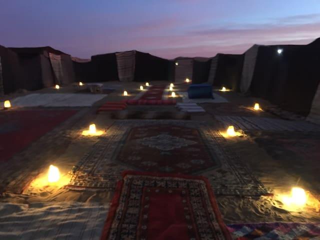 Typical luxury Camp; hospitality & camel treks