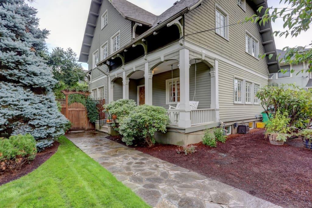 Front Door + Porch Swing