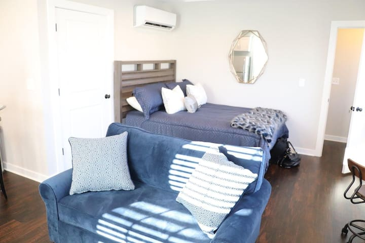 Sofa bed opens up to twin bed