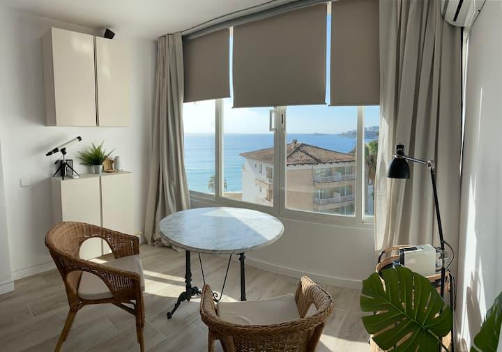 Palma Estudio con vista, en la playa de Calamajor