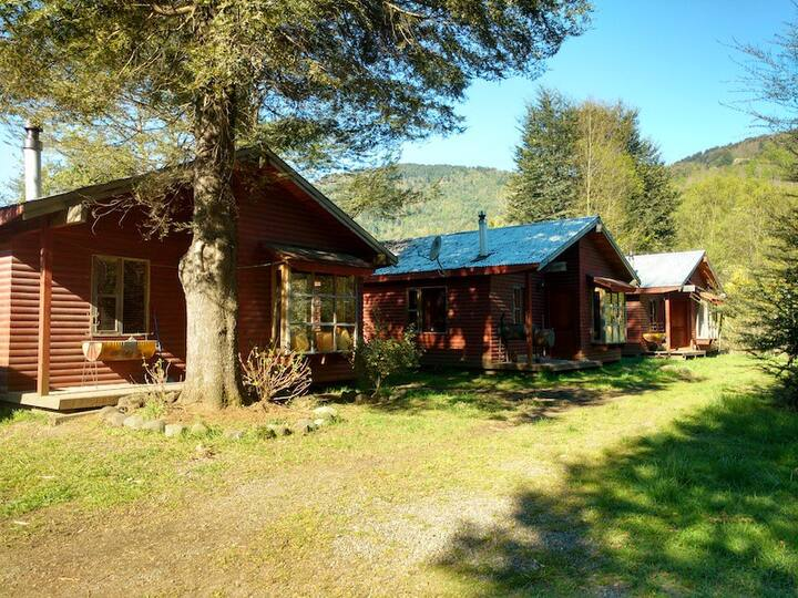 Cabaña para 2 a 3 personas, 2 km del Lago Caburgua
