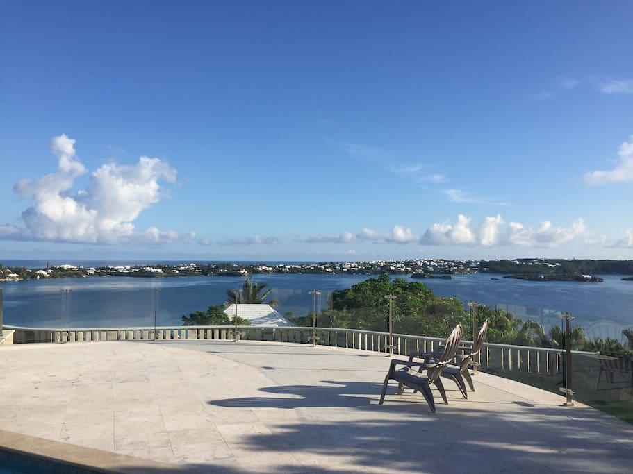 View from the pool deck