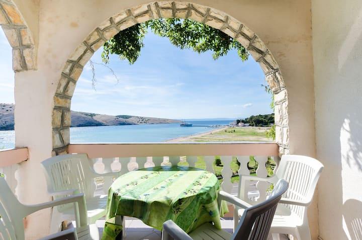 Two Bedroom Apartment, seaside in Lopar - island Rab, Balcony