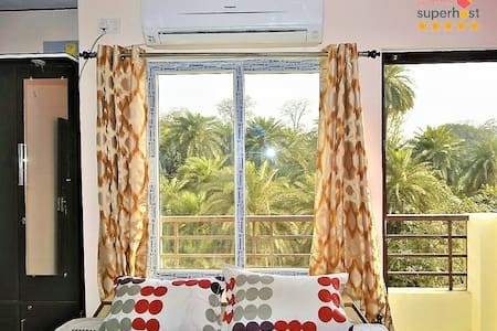 Lake View,Furnished 3BHK Flat near KV Temple