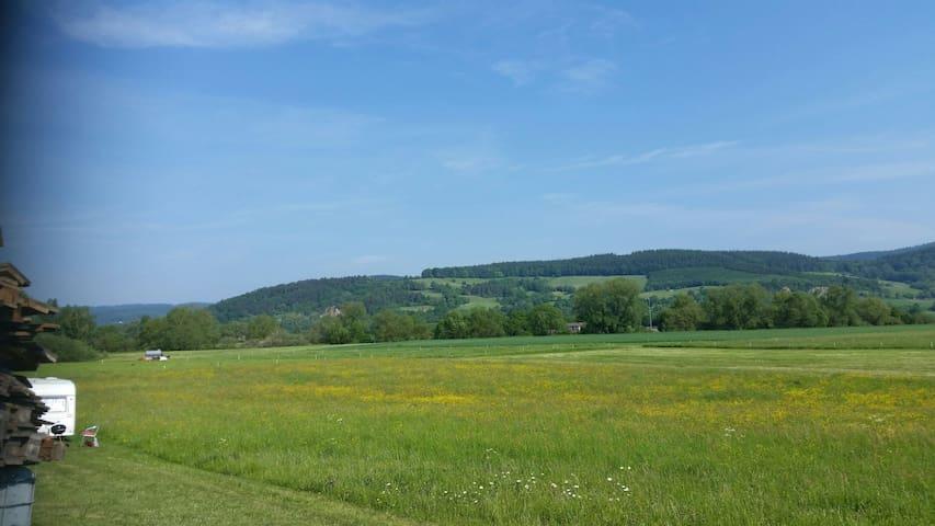 Tolle Landschaft viel Natur im fuldatal