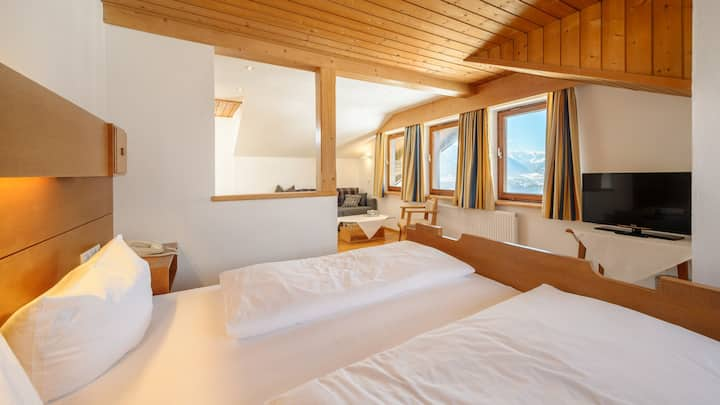 Four beds in amazing panoramic mountain view hotel