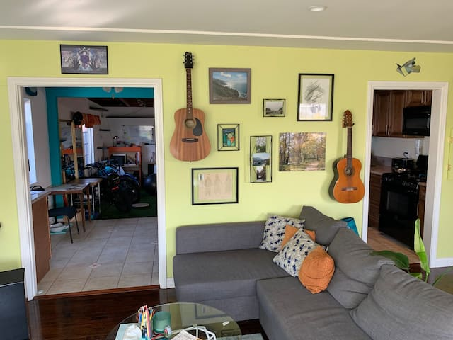 Funky and Bright Room in Uniquely Expressive Home