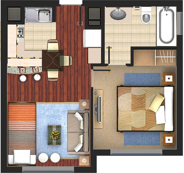 Quite and nice apartment