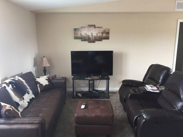 """Living room & 50"""" HDTV"""