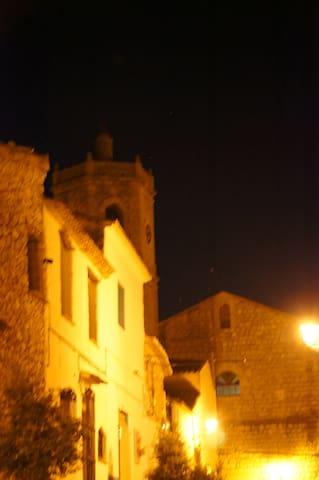 Street view towards the church.
