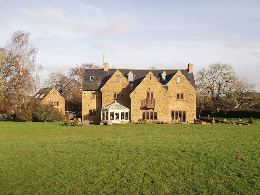 Rear of the property surrounded by 6 acres of open garden space