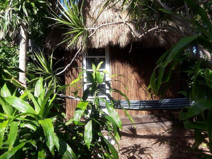 Tiki Hut with Hammock: Urban Farm Animal Sanctuary