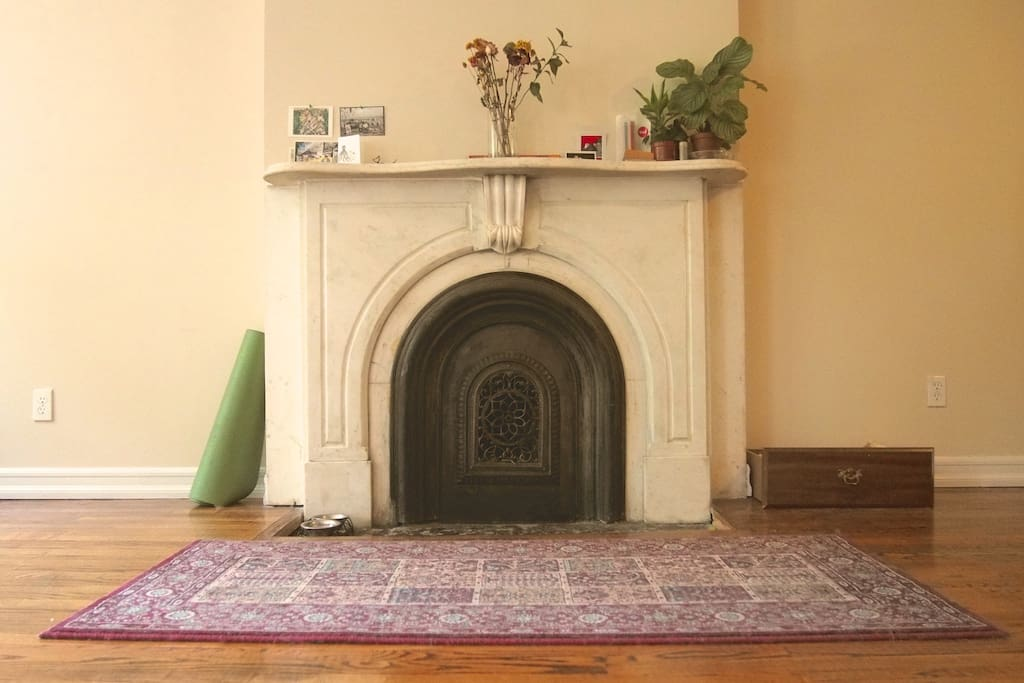 one of the old original fireplaces (we have 2!)