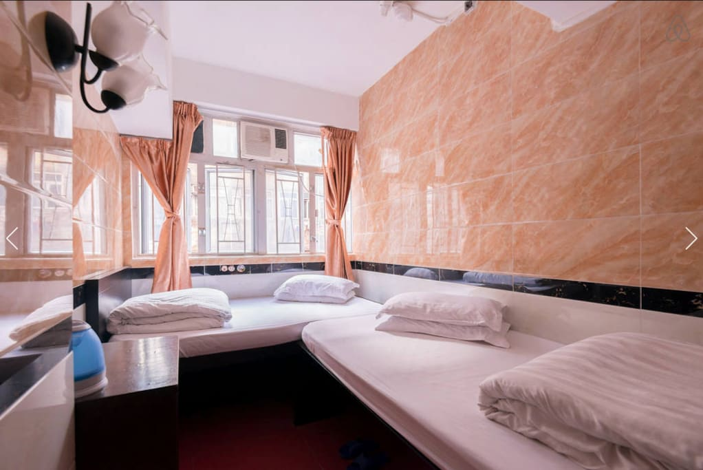 quad room suits for 4 persons,washroom inside.