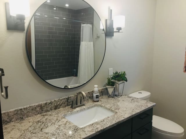Newly renovated guest bathroom
