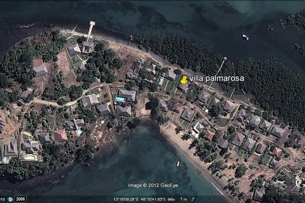 vue de villa par Google earth