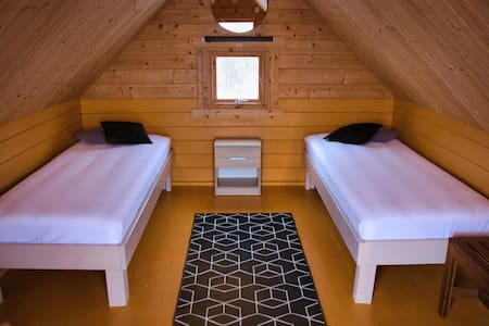 Fossatún Camping Pods - Twin Pod Cottages