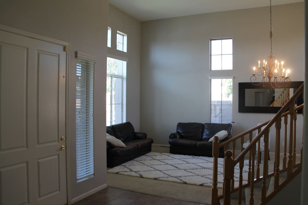 Front Room/Vaulted 20 foot ceilings