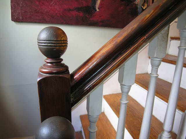 1860's staircase newell post