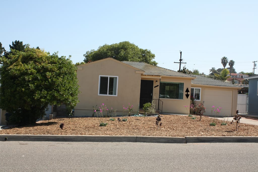 Front of house and all xeriscape (quite a bit away from street with long driveway).