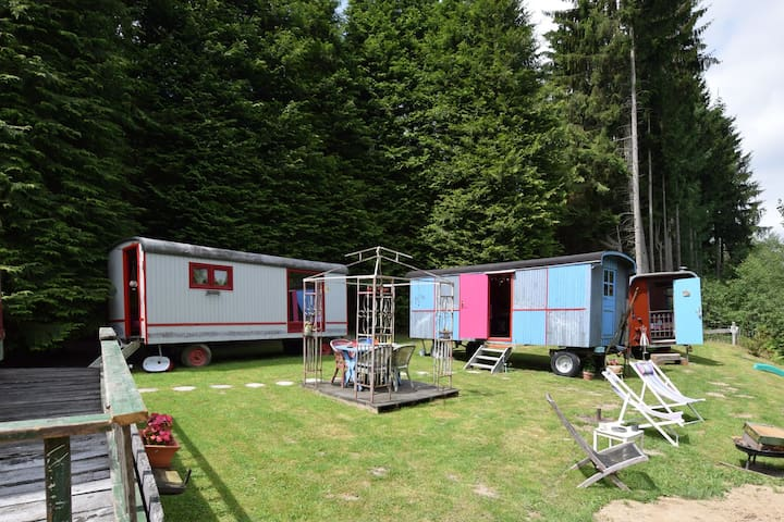 Caravan Holiday Home in Houffalize with Private Terrace