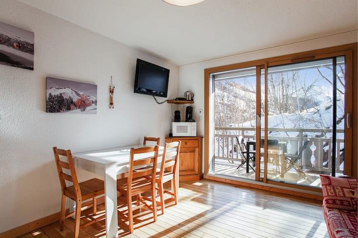 Studio in Les Deux Alpes  mit toller Aussicht auf die Berge und Balkon