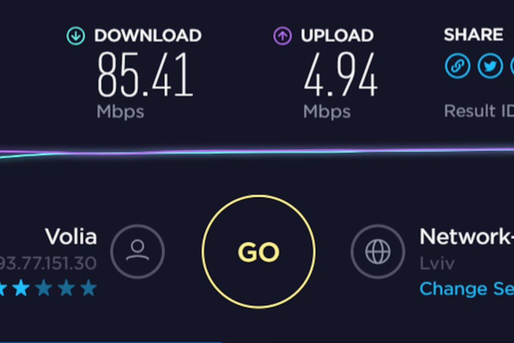 This is the wifi speed when you are next to the router.