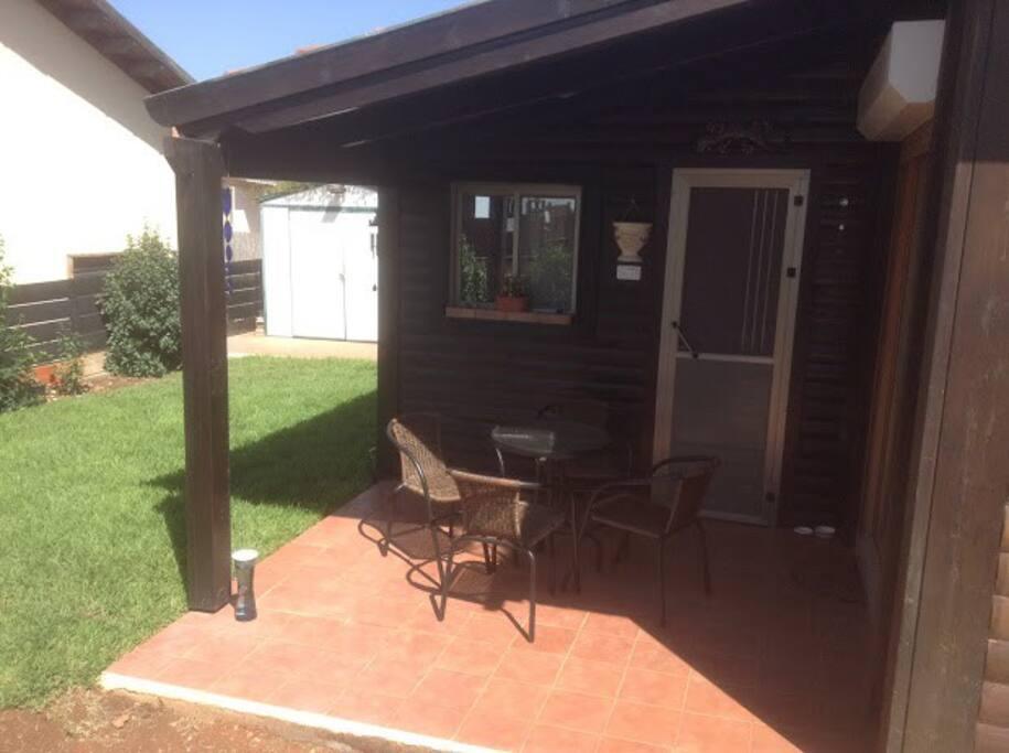 comfy breakfast porch