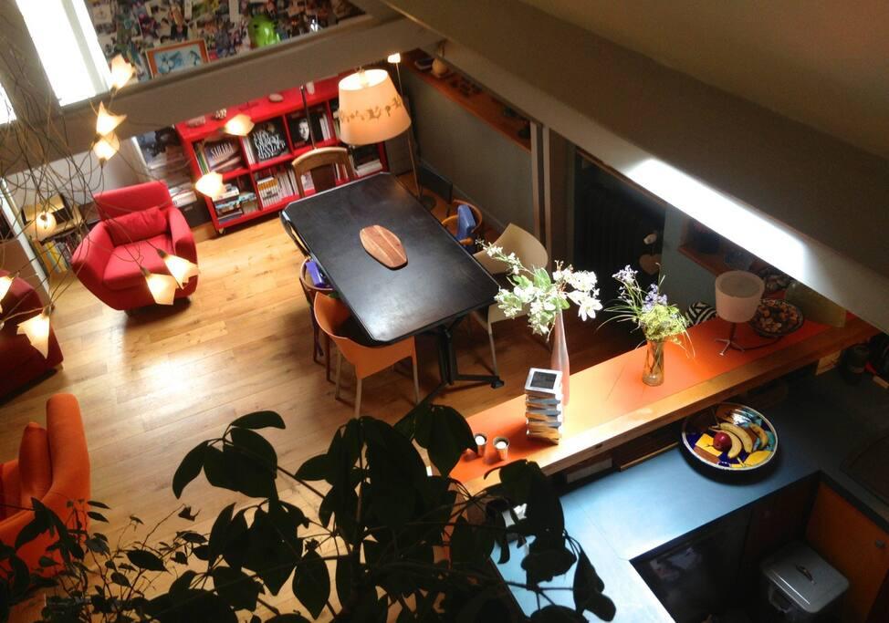espace salon séjour