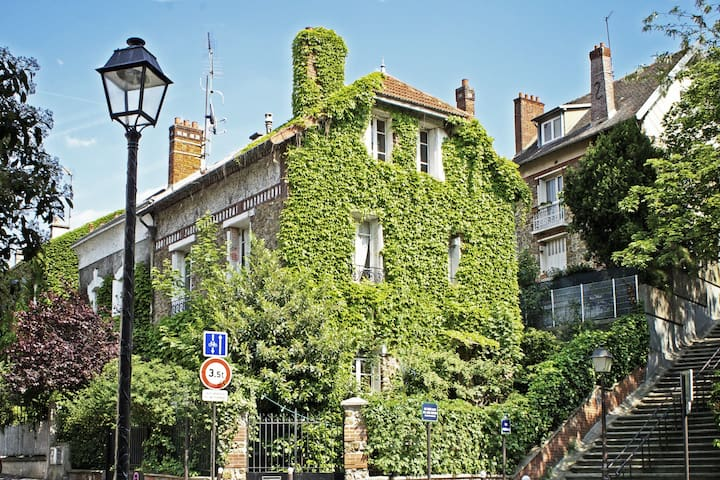 House with garden in paris maisons de ville louer paris le de france - Maison de ville ile de france ...