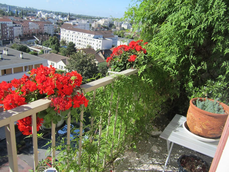 The balcony during summer time!