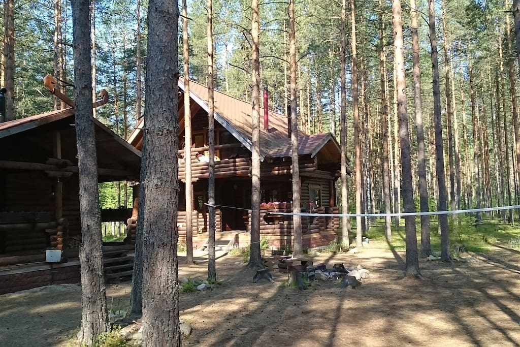 The main house and sauna