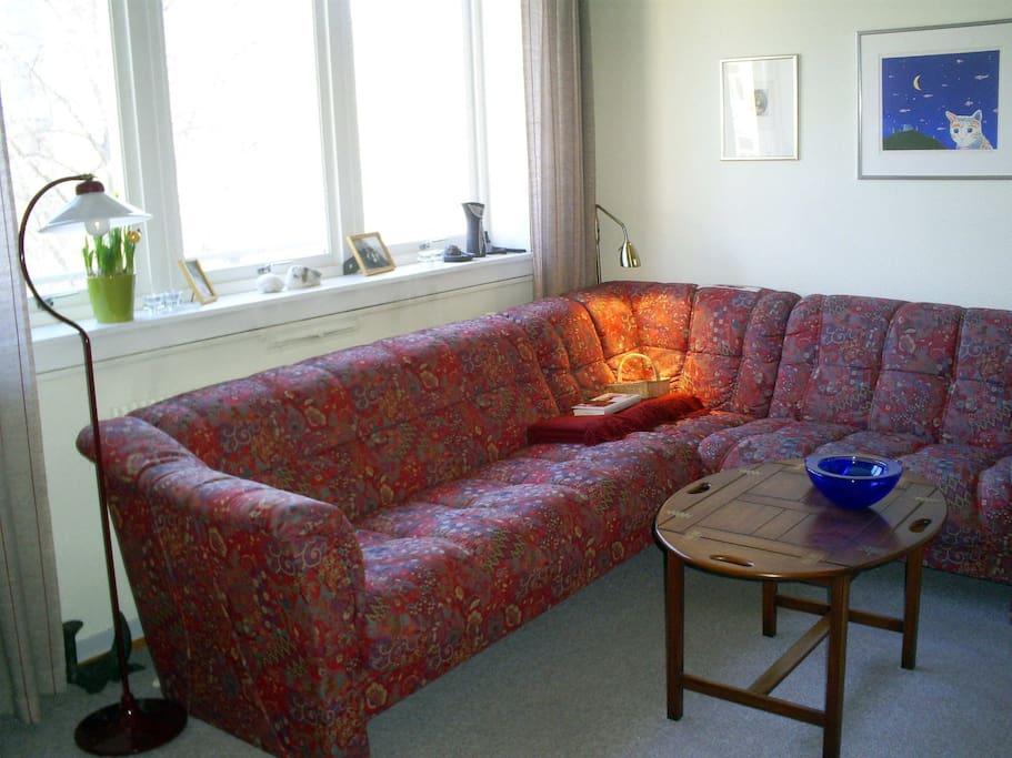Comfortable sofa /Den gode sofaen