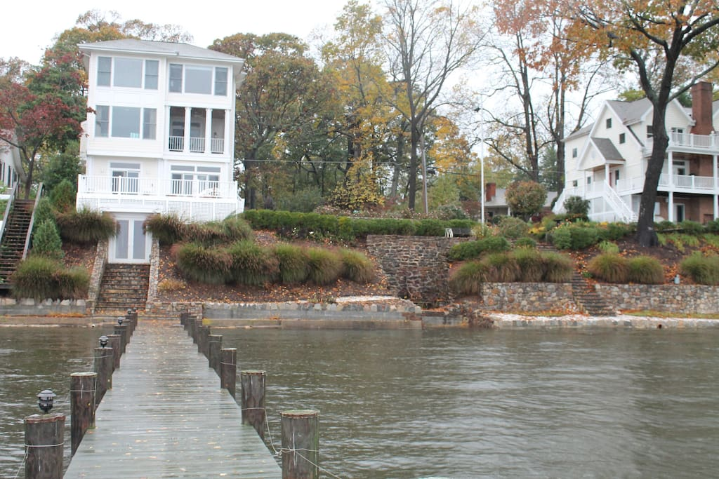 View of the home from the private pier.