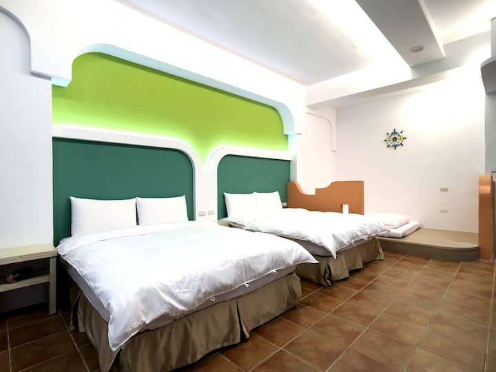 地中海6人房 - 雙衛浴