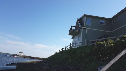 Private beach front loft