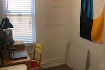 A office space and laptop to use.